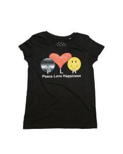 PLH Original Logo Scoop Neck Tee - Black